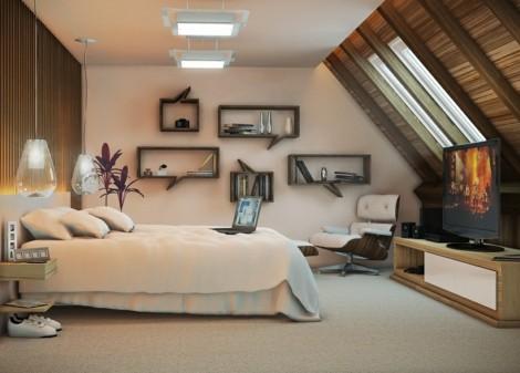 Schlafzimmer dachgeschoss  Wandgestaltung Schlafzimmer Dachgeschoss - schöne Küche Design