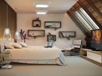 Wandgestaltung Schlafzimmer Dachgeschoss