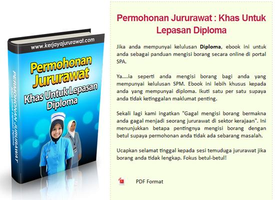 Rujukan Kerjaya Jururawat Lepasan SPM Diploma