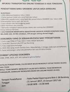Untuk Kamu Yang Di Bandung, Sekarang Grabbike Buka Pendaftaran