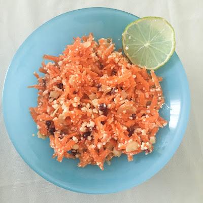 Ensalada de zanahoria y requesón