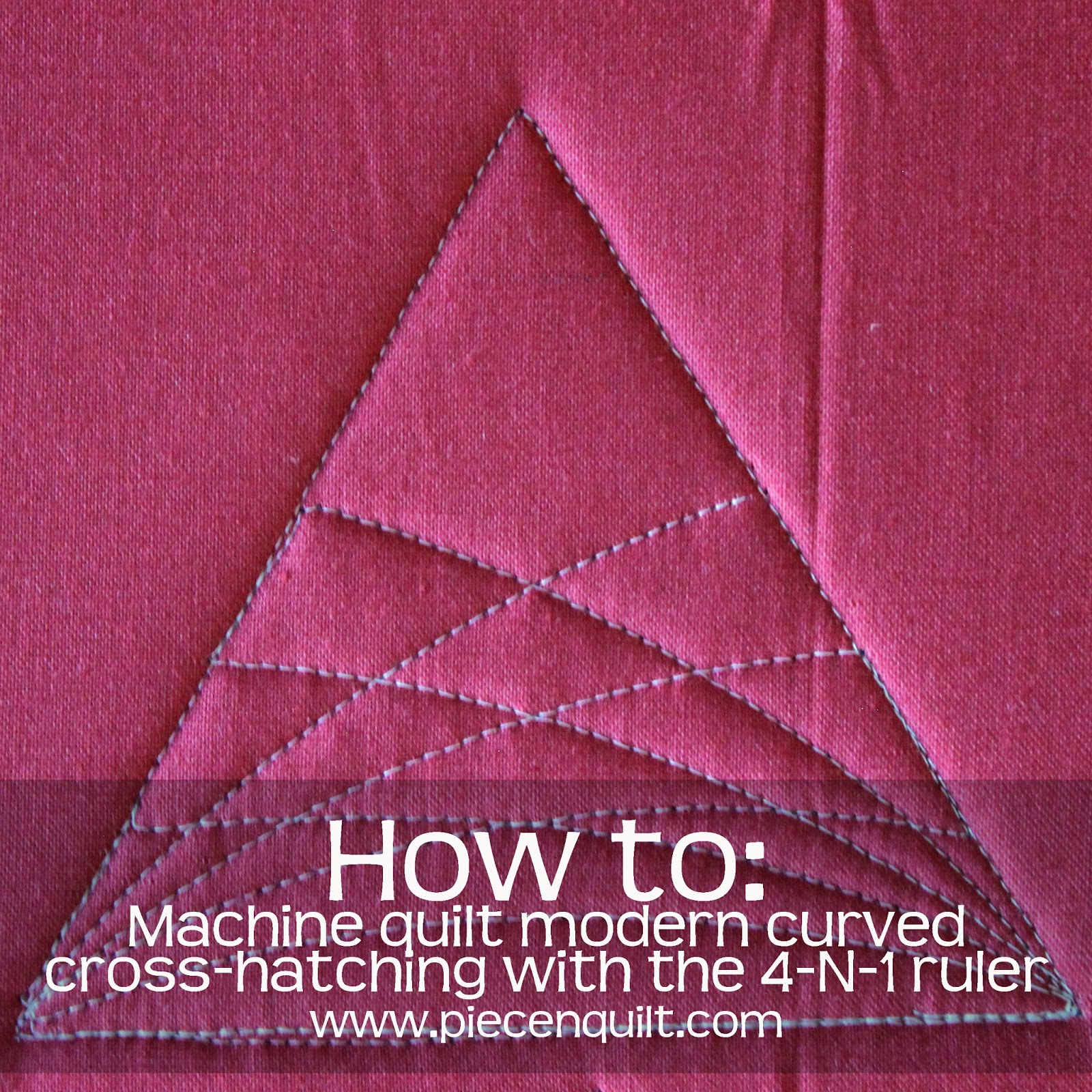 How-to Machine Quilt Modern Curved Cross-Hatching on a Triangle ...