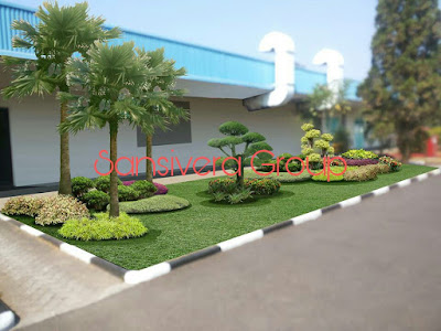 Desain Landscape Taman Pabrik