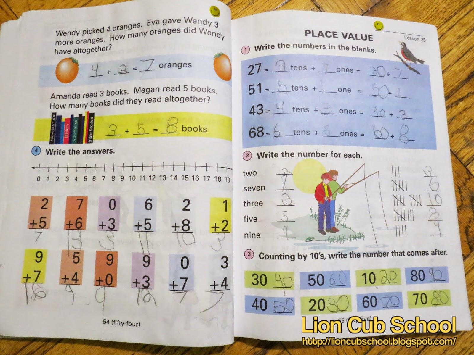Lion Cub School Homeschool Curriculum Review Horizon