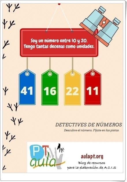 DETECTIVES DE NÚMEROS HASTA 100 (Fichas de Matemáticas de Primaria)