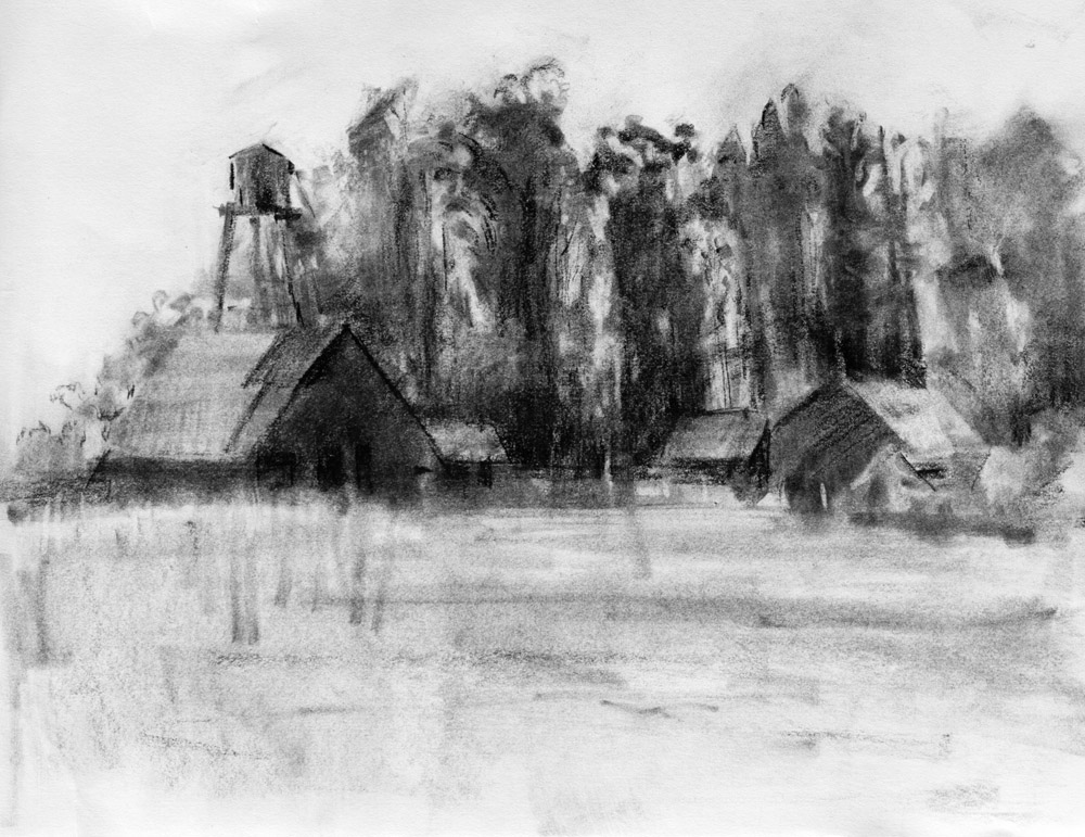 CHARCOAL DRAWINGS  |Charcoal Drawings Of Landscapes