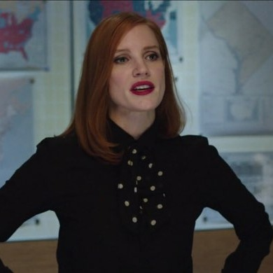 Jessica-Chastain-vermillion-lip