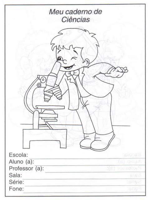 Capas De Caderno Na Educacao Infantil Para Colorir Aprender E