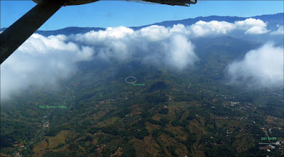 Aerial view of our area NE of San Isidro de El General, Costa Rica