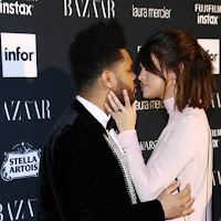 Selena Gomez and The Weeknd: Tender kiss for a rare official appearance