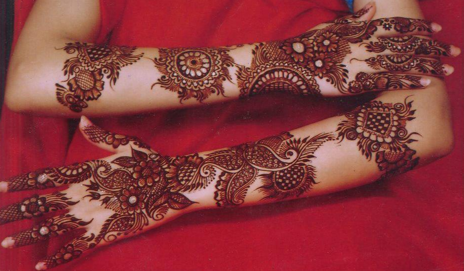 Arabic Full Hand Bridal Mehndi Design