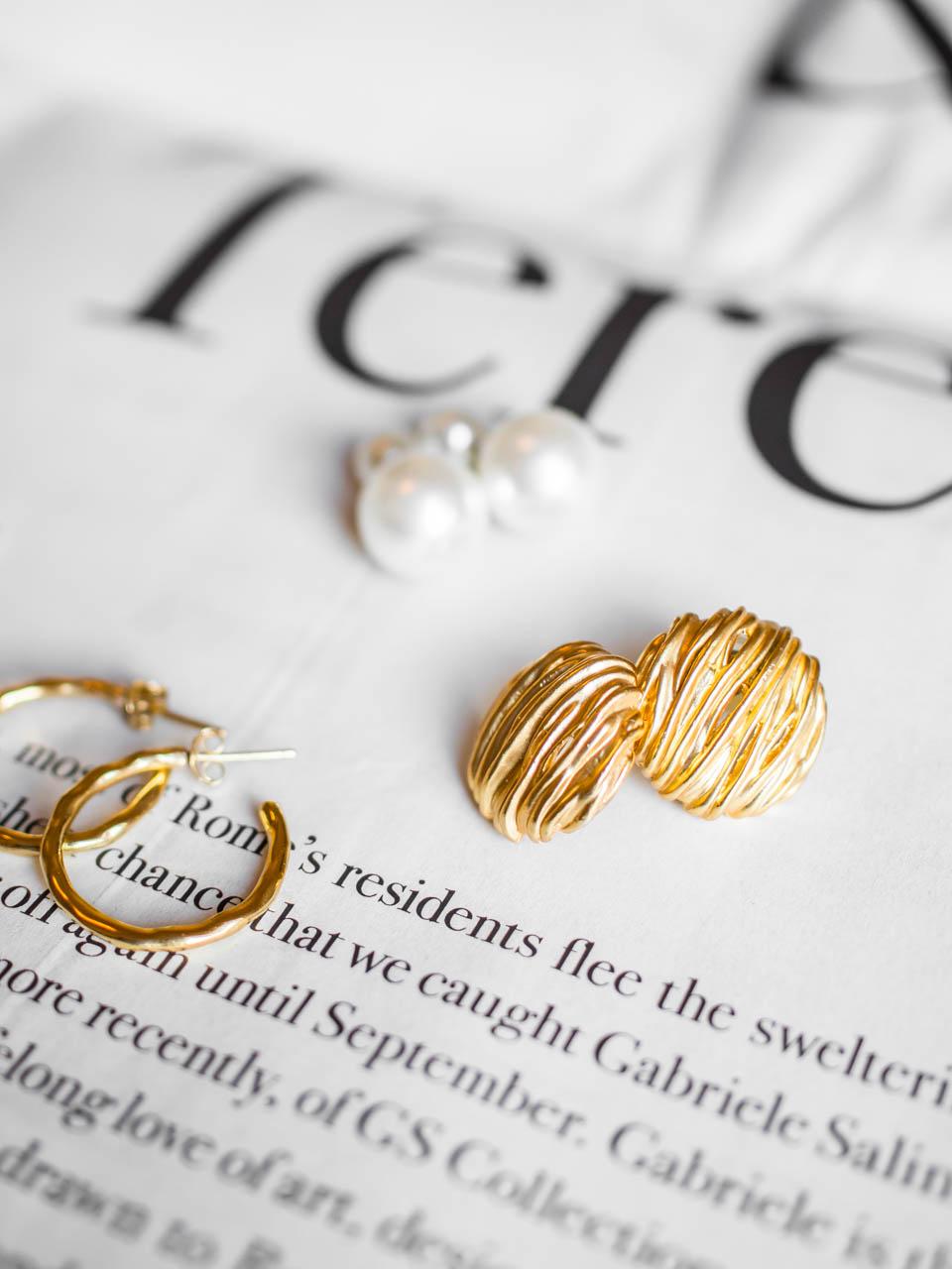 Second hand shopping vintage style earrings - Second hand, shoppailu, vintage, korvakorut
