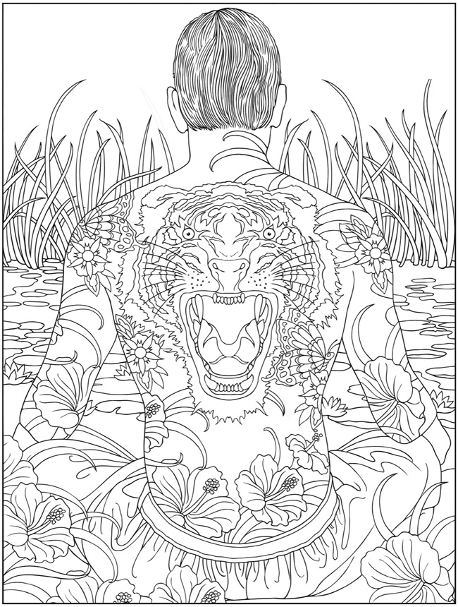 psychedelic coloring pages for adults - 50 trippy coloring pages