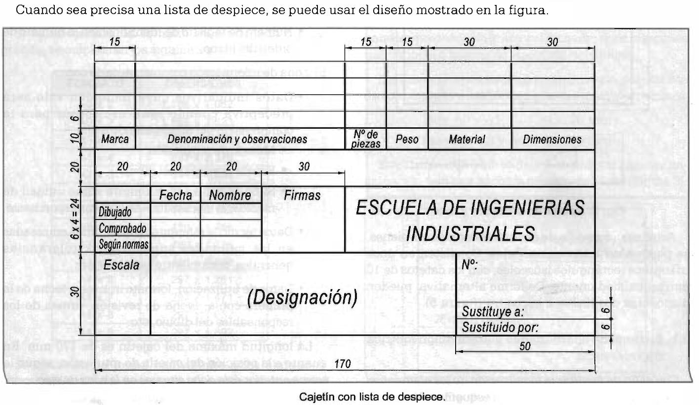 T cnico auxiliar en dise o industrial bloque cajetin for Plano de planta dibujo tecnico