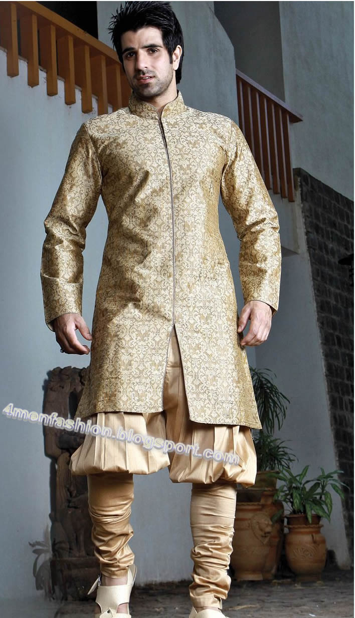 Most Beautiful Common Colors Which Are Used In Sherwani Black Blue Off White Design Golden