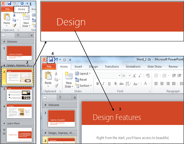 Mengganti tulisan header powerpoint