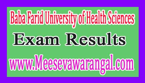 Baba Farid University of Health Sciences B.Sc Nursing IInd Year June 2016 Exam Results