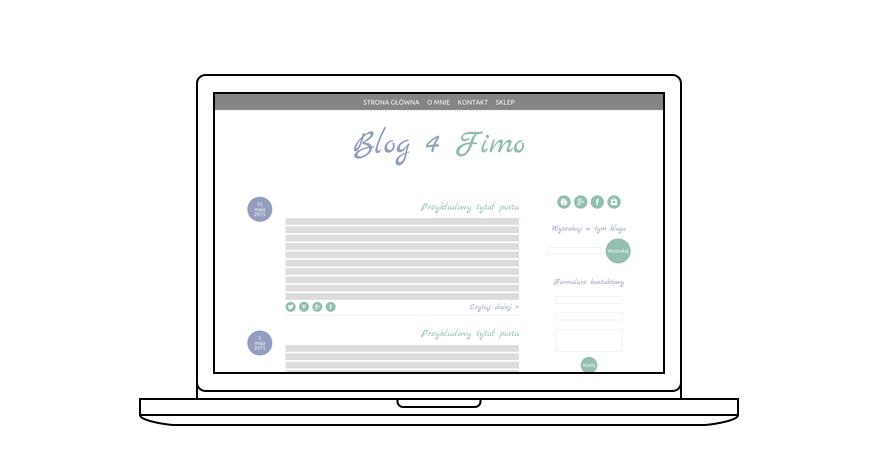projekt bloga Blog 4 Fimo