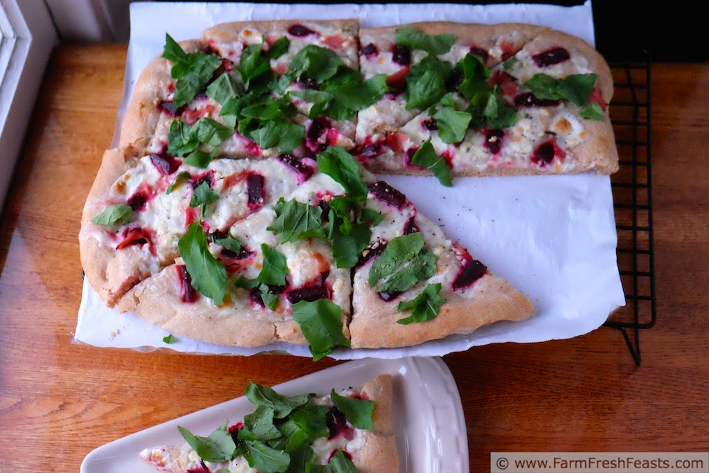 http://www.farmfreshfeasts.com/2014/10/roasted-beet-arugula-pizza.html
