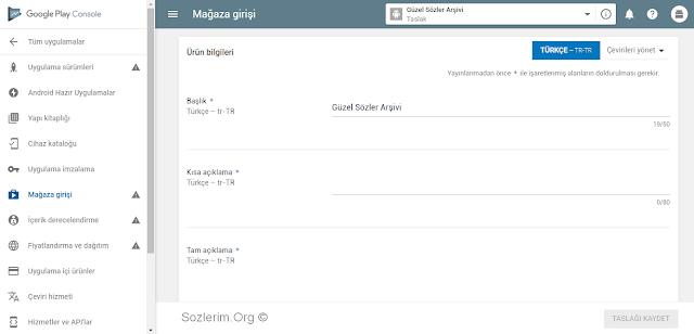 Google Play Store'de Uygulama Yayınlama
