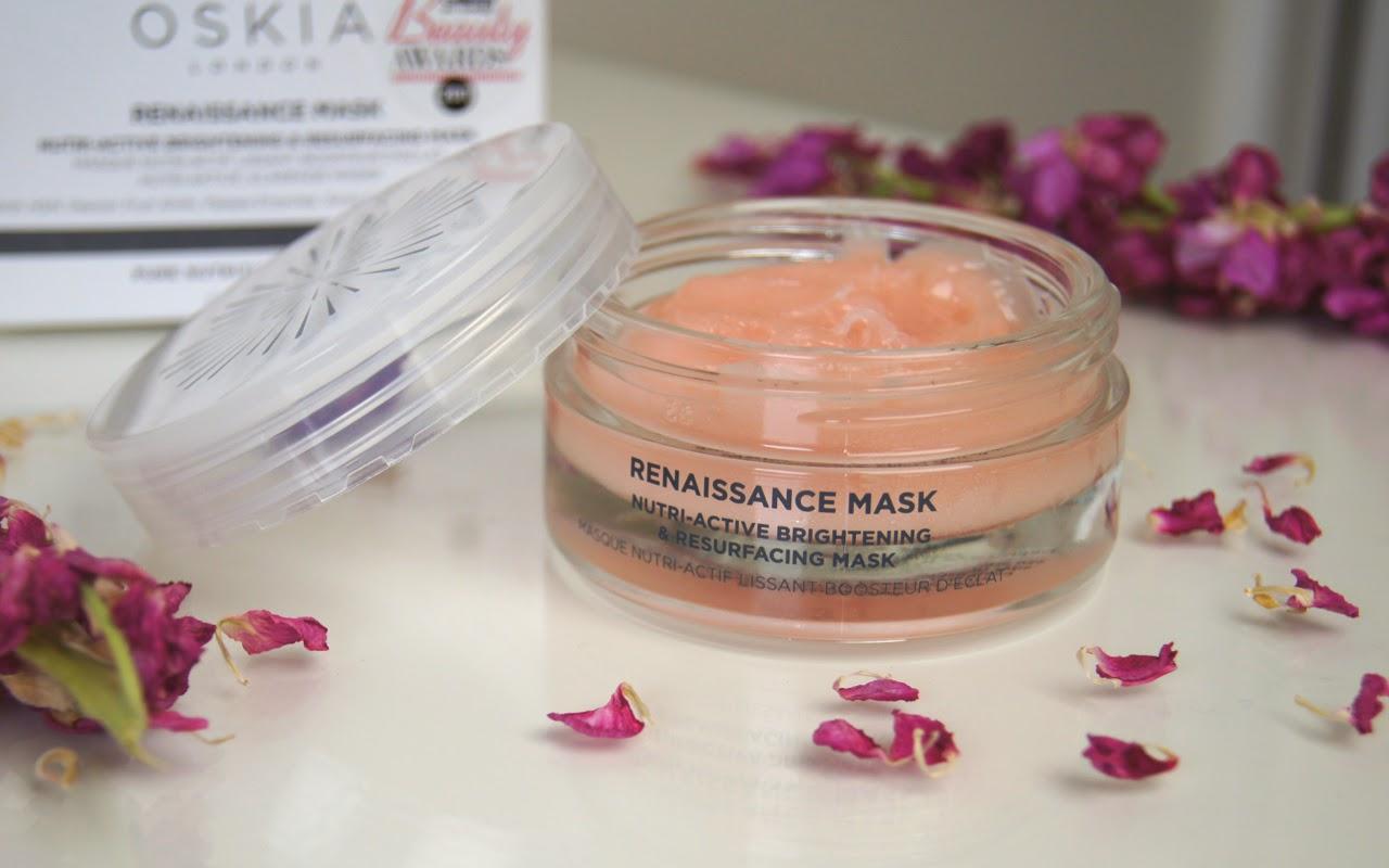 oskia renaissance mask review exfoliating brightening skincare