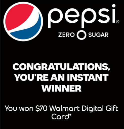 Pepsi Zero Sugar 'Pay Zero' Instant Win Game (3,000 Winners