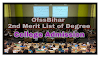Ofssbihar  2nd merit list of degree college admission 2018