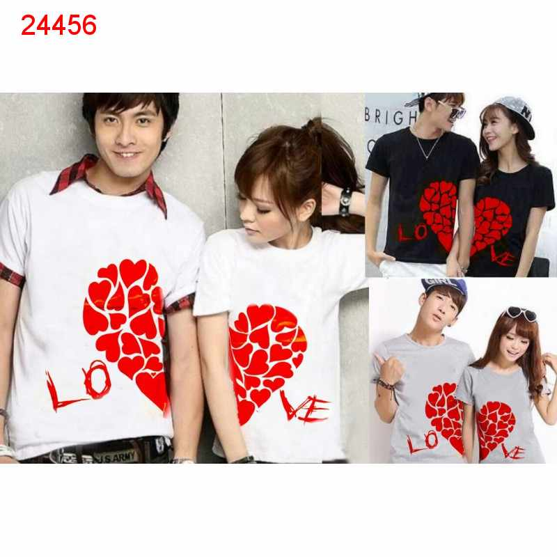 Jual Baju Couple Love Daun - 24456