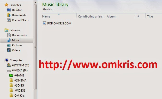 Playlist di windows media player OMKRIS4