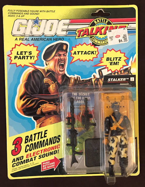 1992 Talking Battle Commanders Stalker, MOC, Carded