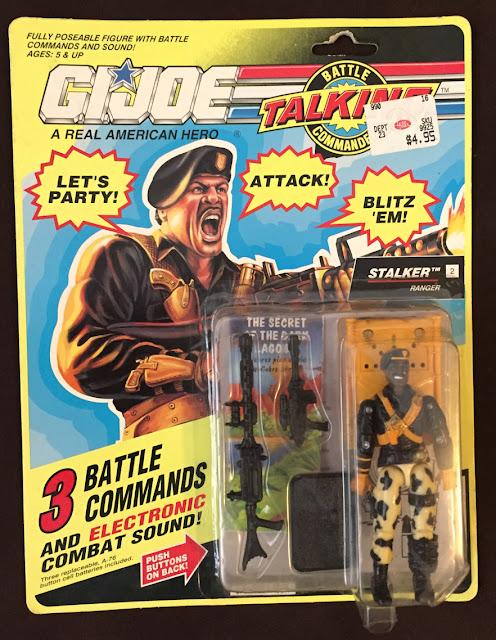 1992 Talking Battle Commanders Stalker, MOC, Carded