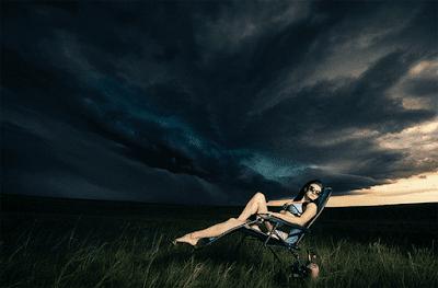 kondisi cuaca saat pemotretan model