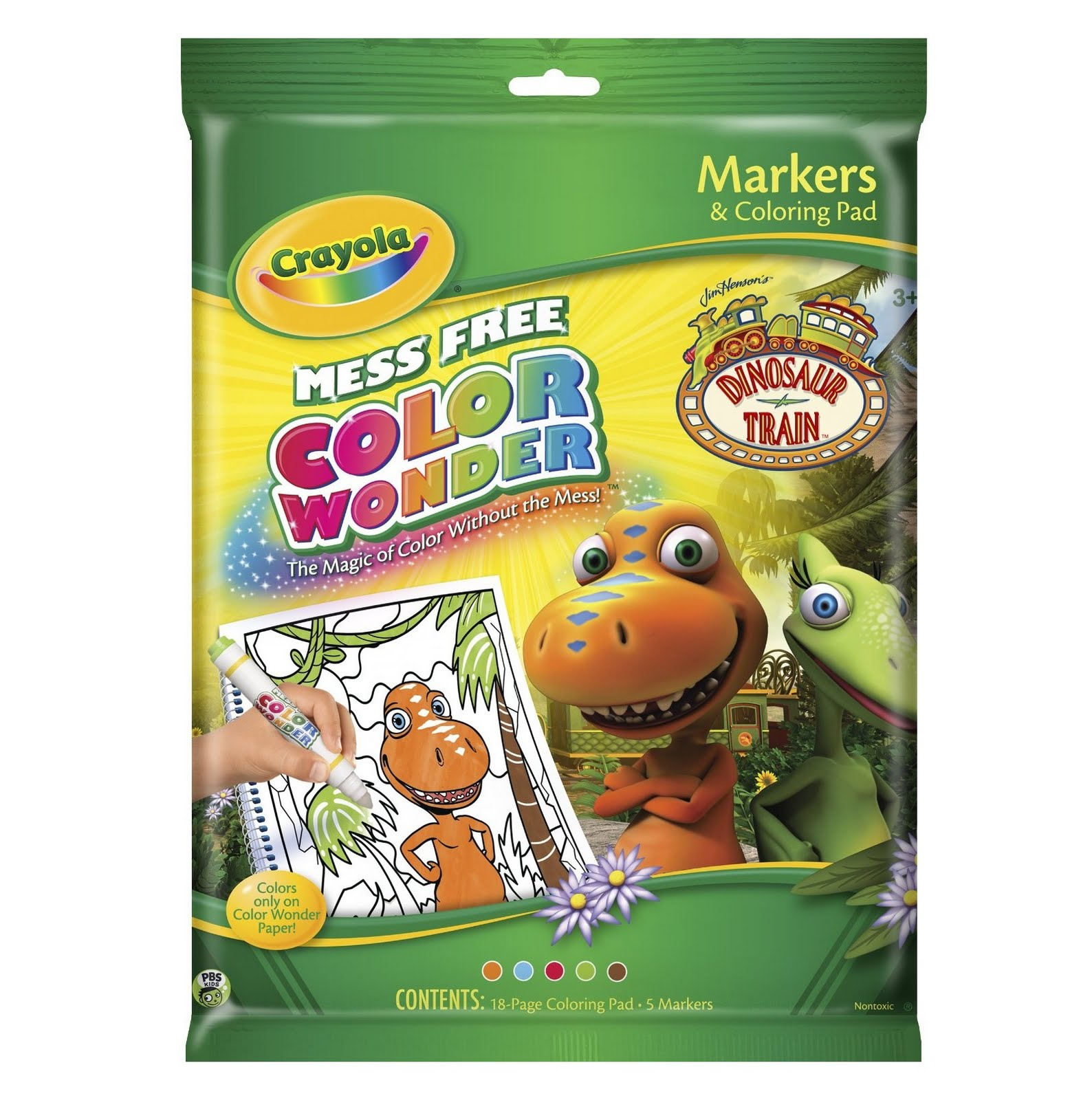 Dinosaur Train Apatosaurus Color Wonder