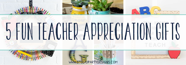Check out these 5 fun DIY Teacher Appreciation Gifts