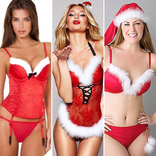 Christmas Party Costume & Outfits Ideas For Men Women & Toddlers - Sexy Christmas Santa Lingerie For Women
