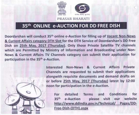 DD Freedish conducting it's 35th E-Auction on 25th May 2017