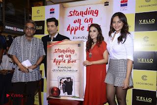 Sonakshi Sinha Karan Johar at Aishwarya Rajinikanth Standing on an Apple Box Book Launch Event  0070.jpg