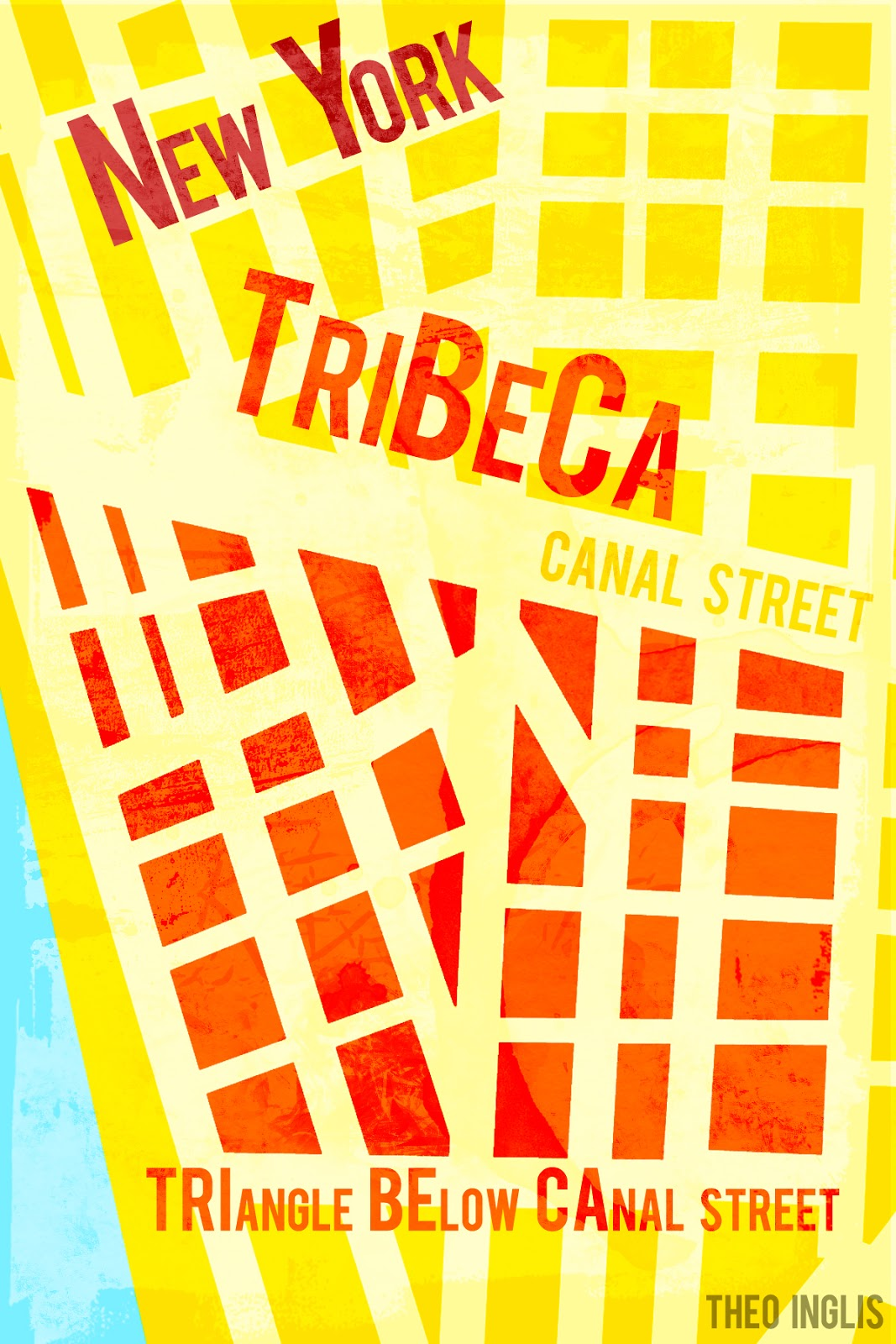TriBeCa New York Postcard by Theo Inglis