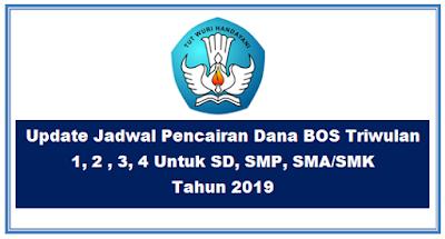 Update Jadwal Pencairan Dana BOS Triwulan 1, 2 , 3, 4 Untuk SD, SMP, SMA/SMK Tahun 2019