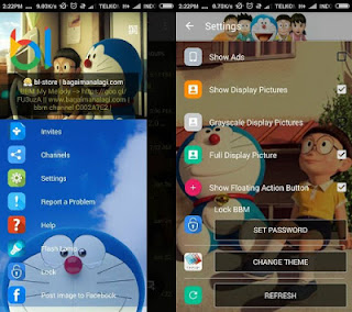 BBM Whatsapp Mod Tema Doraemon v2.12.0.9 New Update