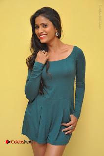 Telugu Actress Prasanthi Stills in Green Short Dress at Swachh Hyderabad Cricket Press Meet  0003.JPG