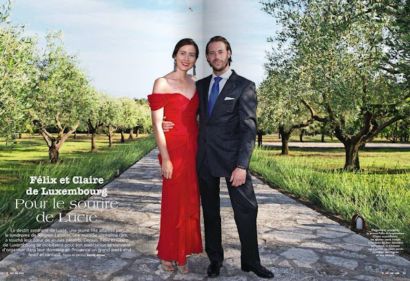 On the last issue of Point de Vue magazine, an interview which bears the photos of Prince Felix, Princess Claire and Princess Amalia