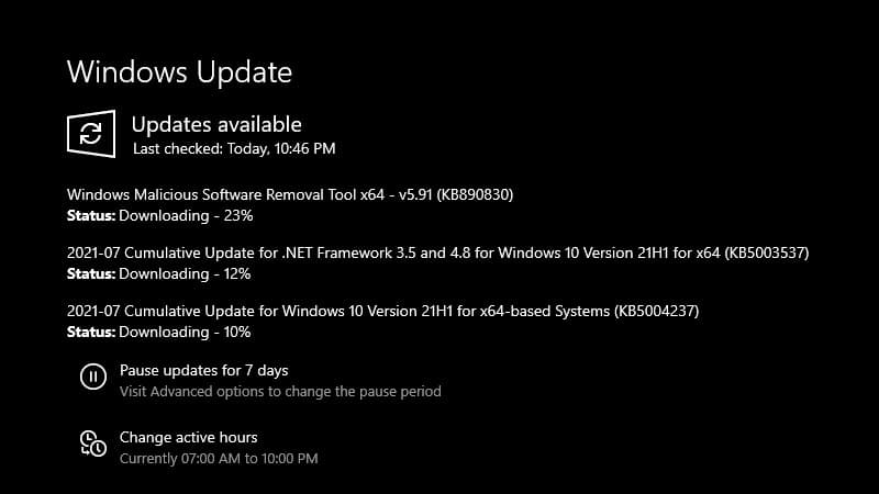 Windows 10 update KB5004237 fixed several issues for versions 21H1, 20H2 and 2004