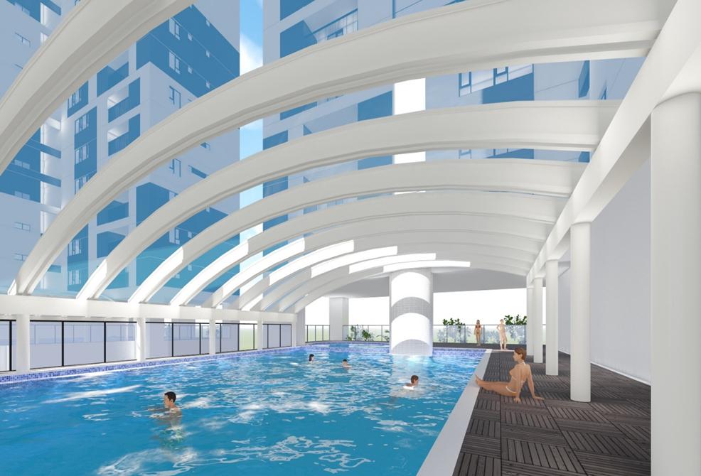 Bể bơi tại dự án chung cư Phú Mỹ Complex - N01T4 Ngoại Giao Đoàn