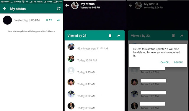 How to Add a Status on WhatsApp from Galaxy S7 / Edge?