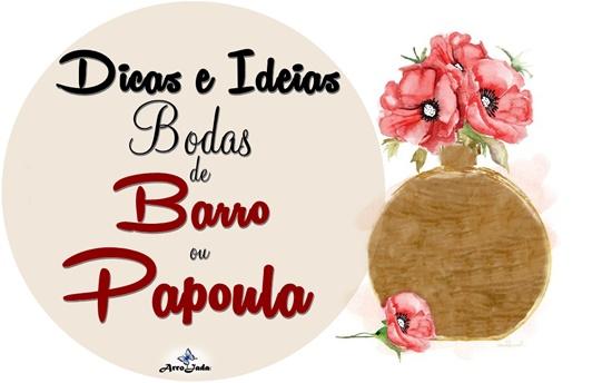 Dicas e Ideias para Bodas de Barro e Papoula