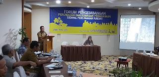 Kabid Perumahan Rakyat PUPR Provinsi Jambi Buka Forum Pengembangan Perumahan Dan Kawasan Permukiman Bidang Perumahan Rakyat.