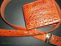 ví da cá sấu , dây lưng cá sấu L07
