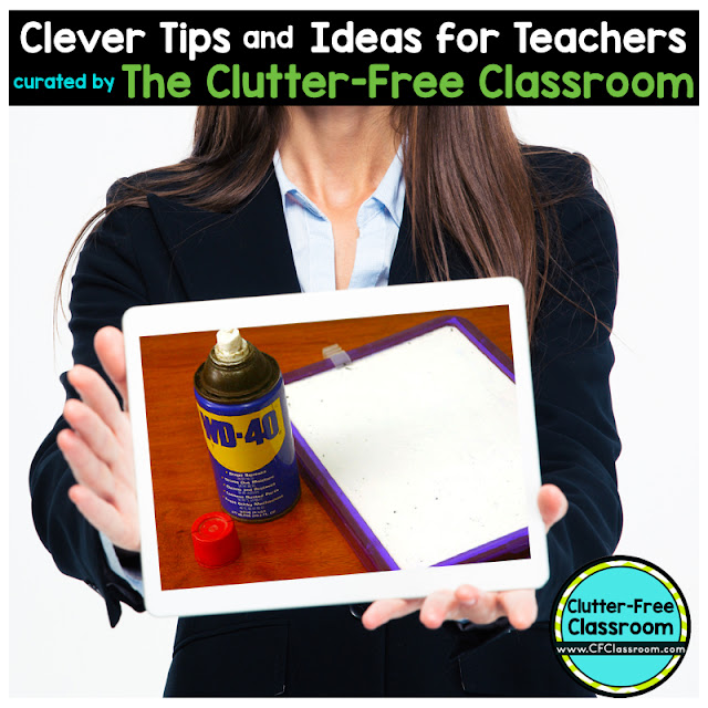 Are the dry erase boards in your classroom looking old and worn? This teacher tip from the Clutter-Free Classroom will remove ink from dry erase boards and restore them to their original condition.