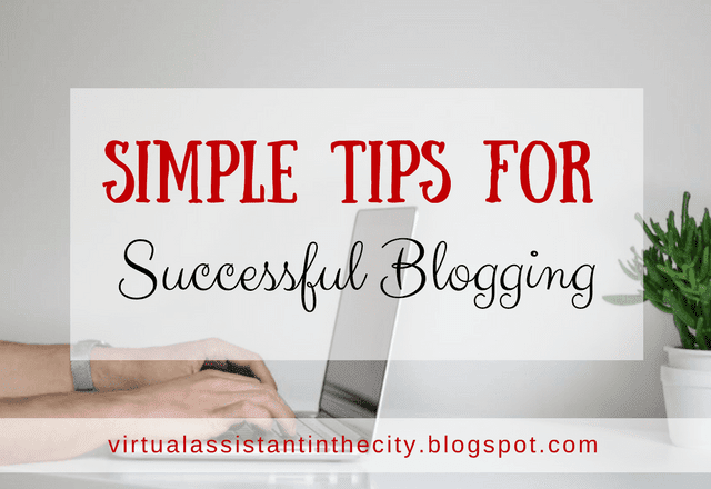 Simple Tips For Successful Blogging